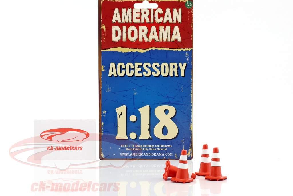 Traffic Cones set 1:18 American Diorama