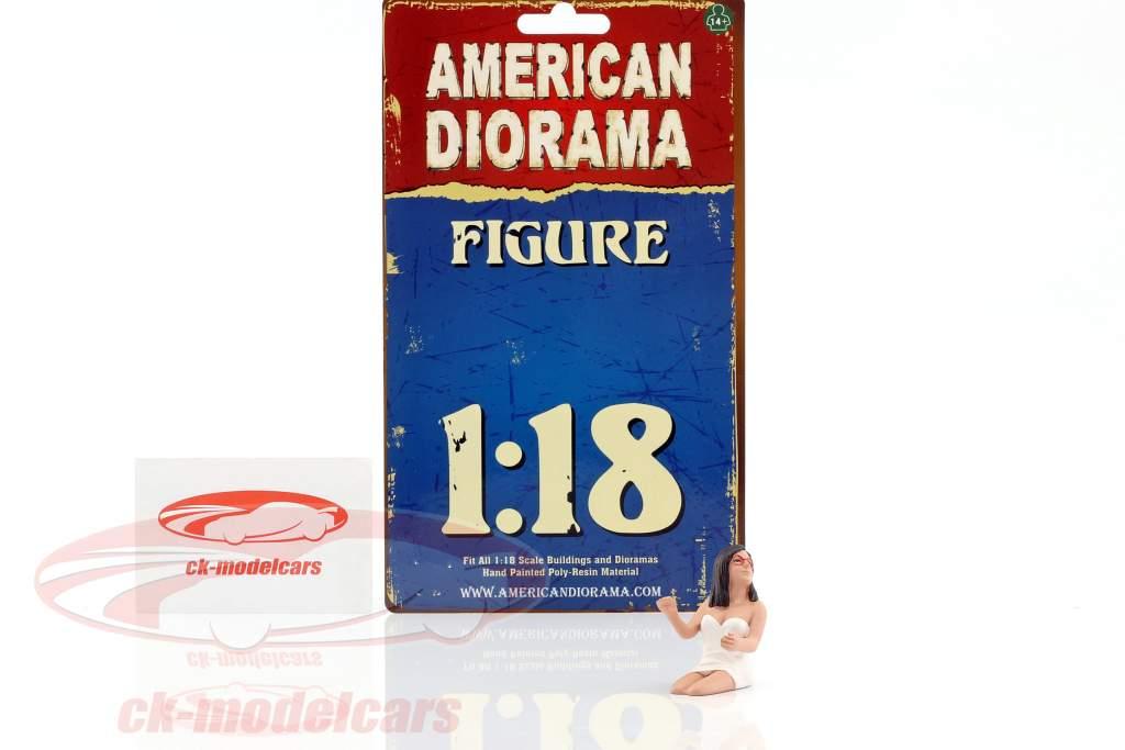 vrouw bestuurder 1:18 American Diorama