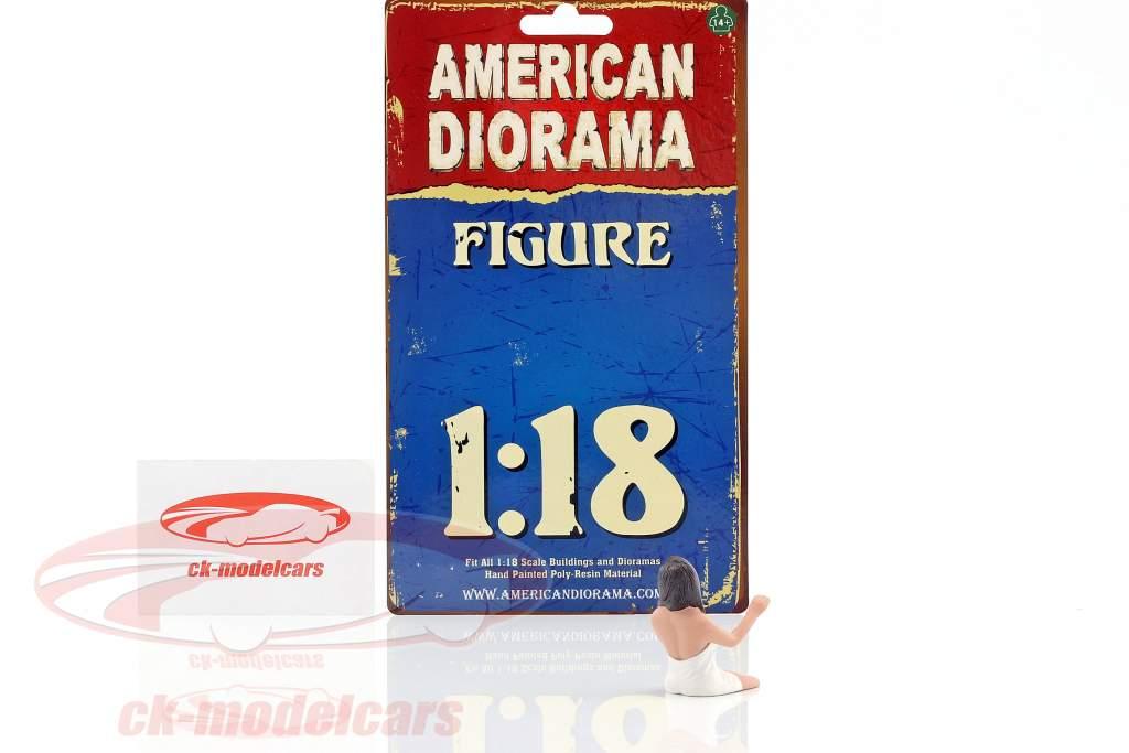 kvinde chauffør 1:18 American Diorama
