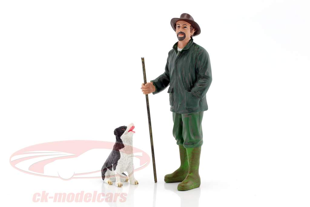 customer Patrick & dog 1:18 American Diorama