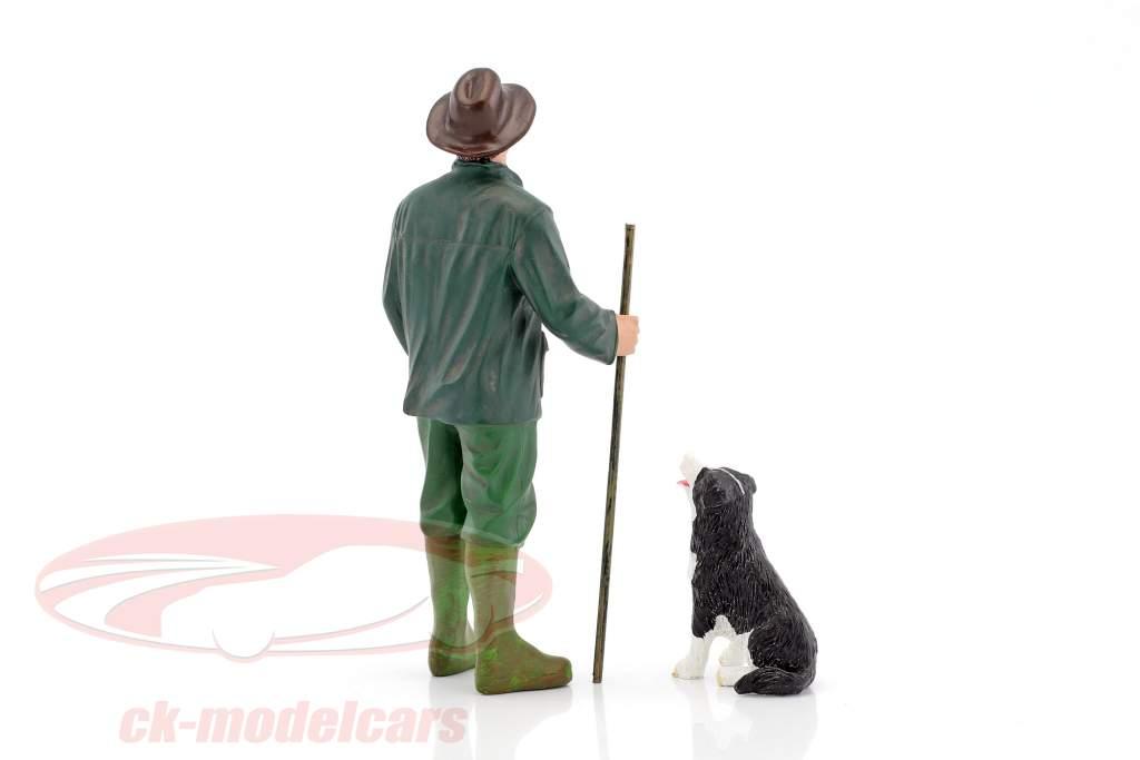 klant Patrick & hond 1:18 American Diorama