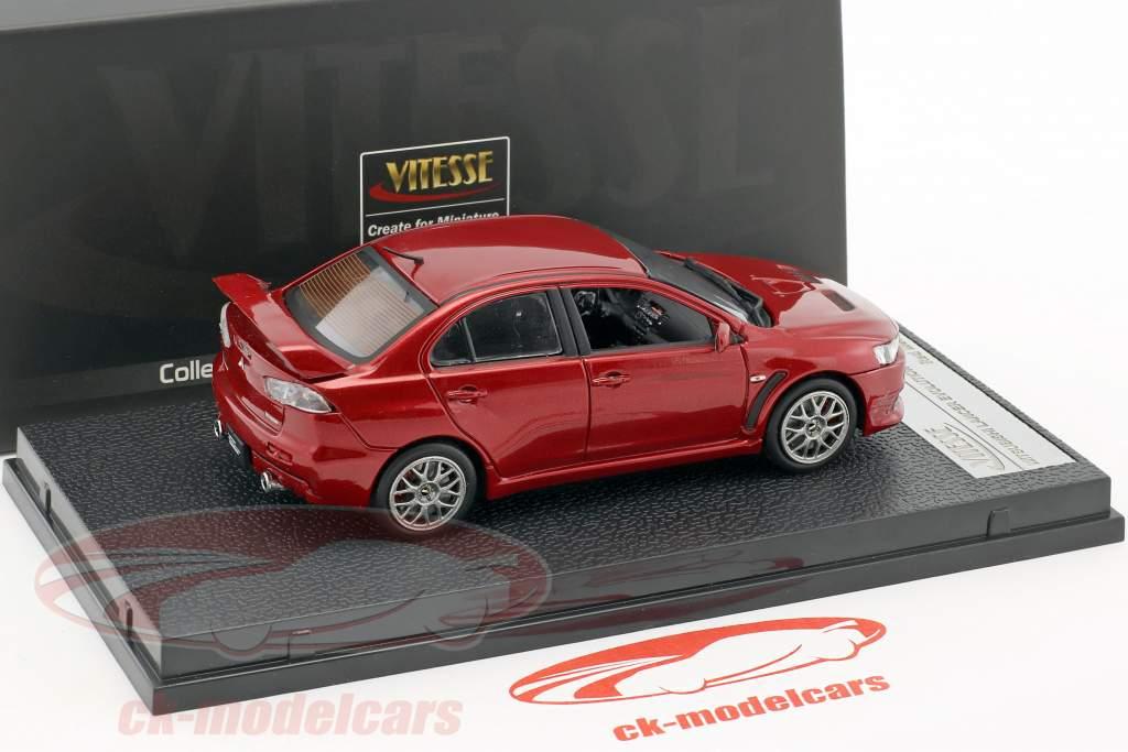 Mitsubishi Lancer Evolution X Opførselsår 2012 rød metallisk 1:43 Vitesse
