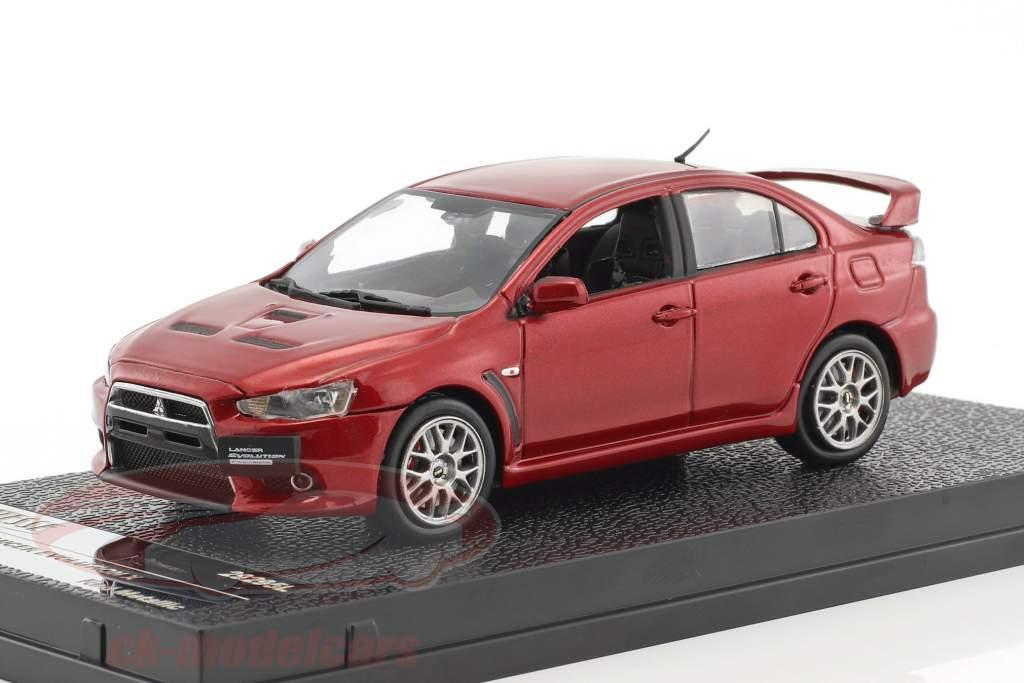 Mitsubishi Lancer Evolution X anno di costruzione 2012 rosso metallico 1:43 Vitesse