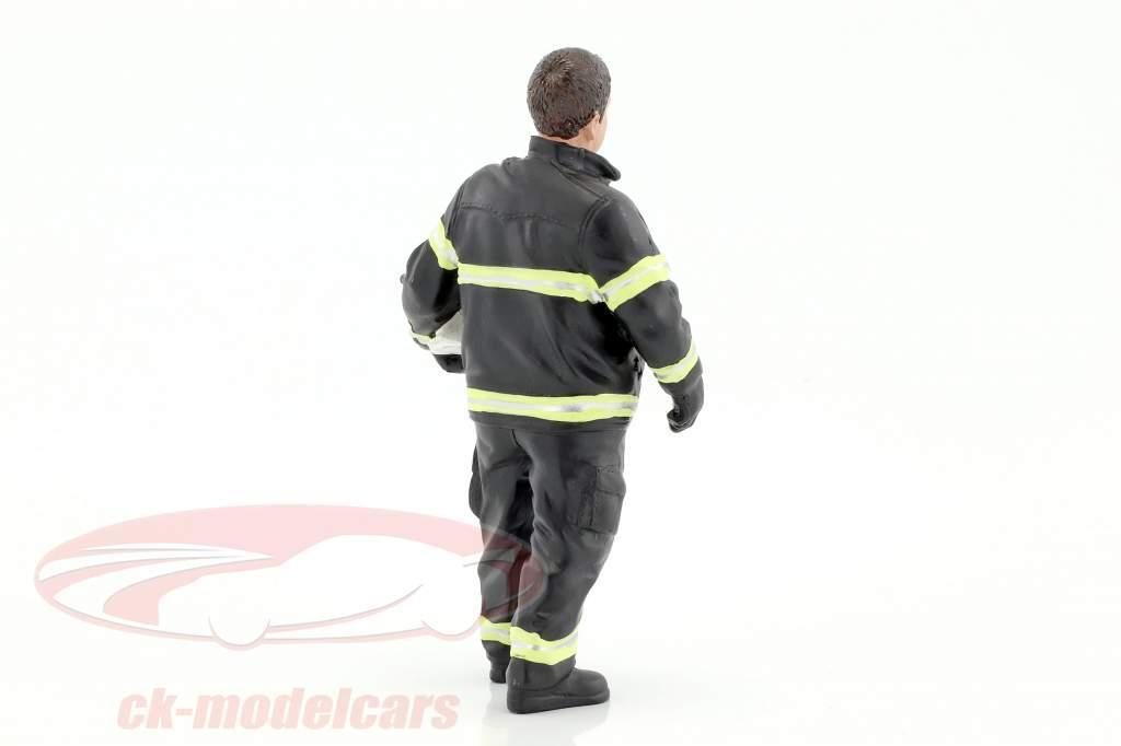 pompier figure I Fire Chief 1:18 American Diorama