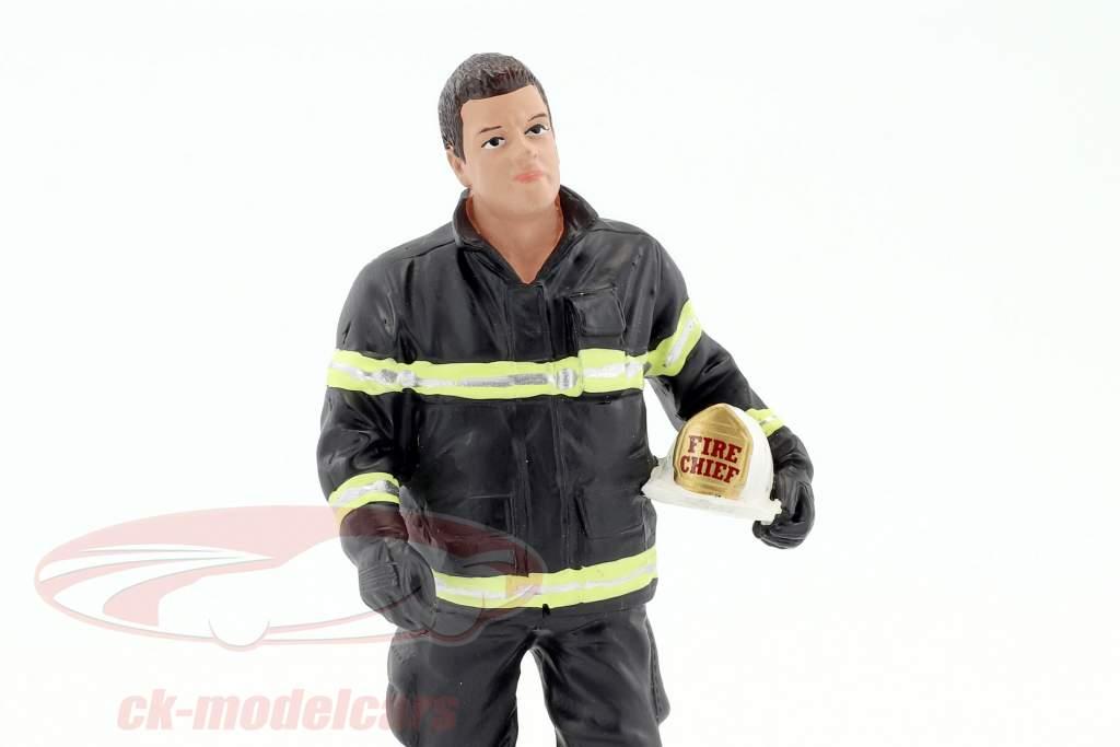 brandweerman figuur I Fire Chief 1:18 American Diorama