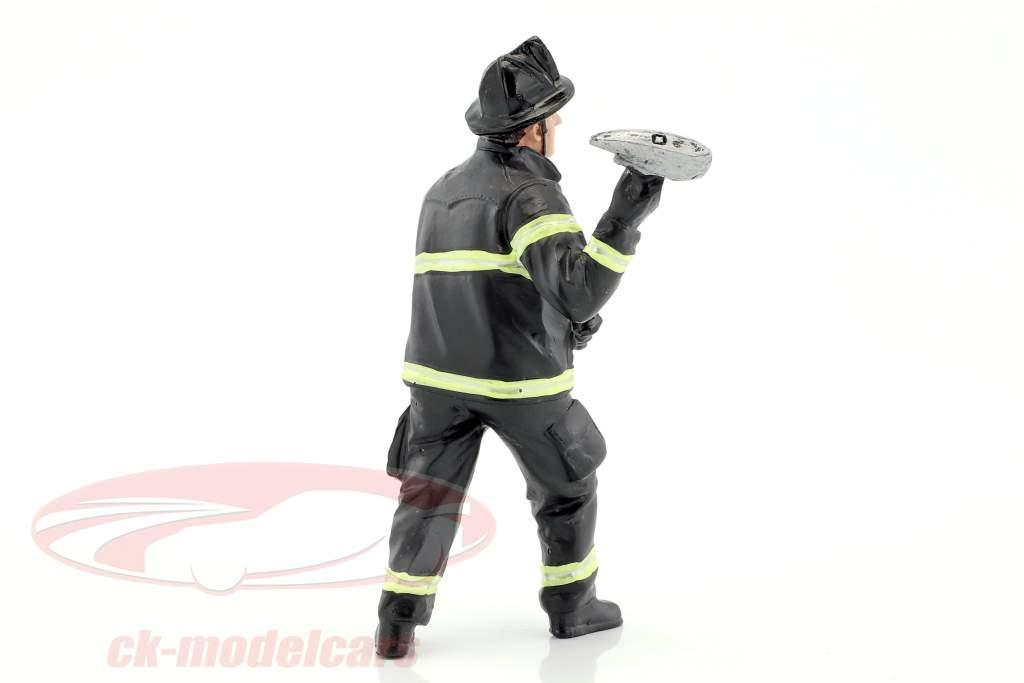 pompiere cifra III Holding Axe 1:18 americana Diorama