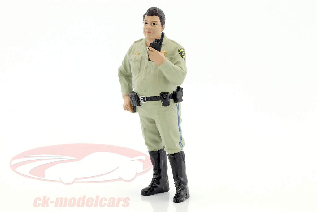 Police Series Highway Patrol Figur IV Talking on Radio 1:18 American Diorama