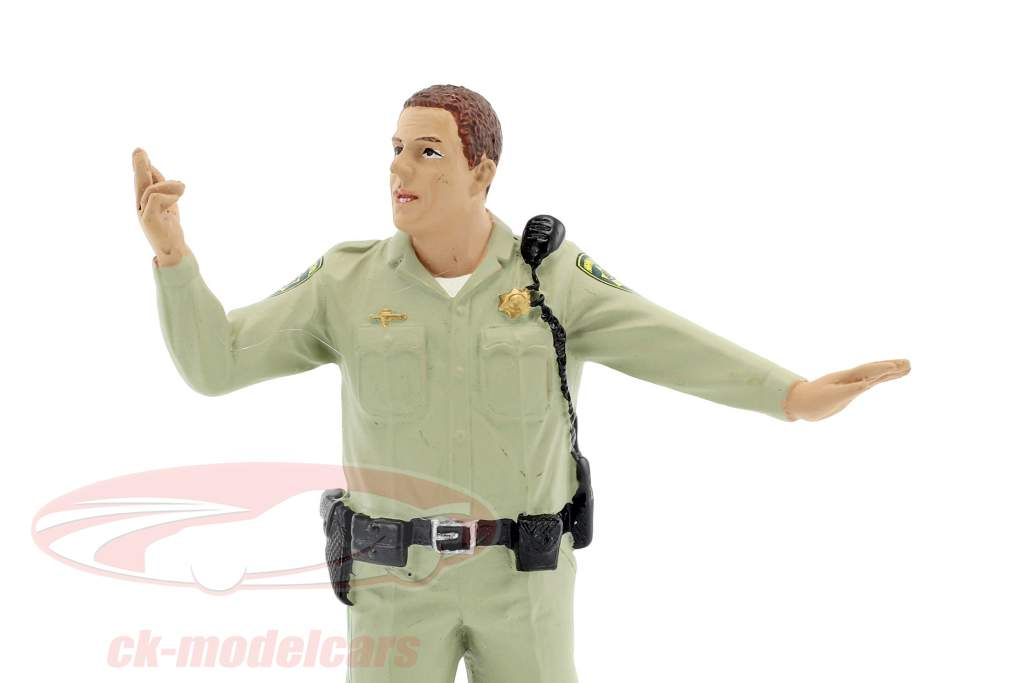 Police Highway Patrol figura III Directing Traffic 1:18 American Diorama