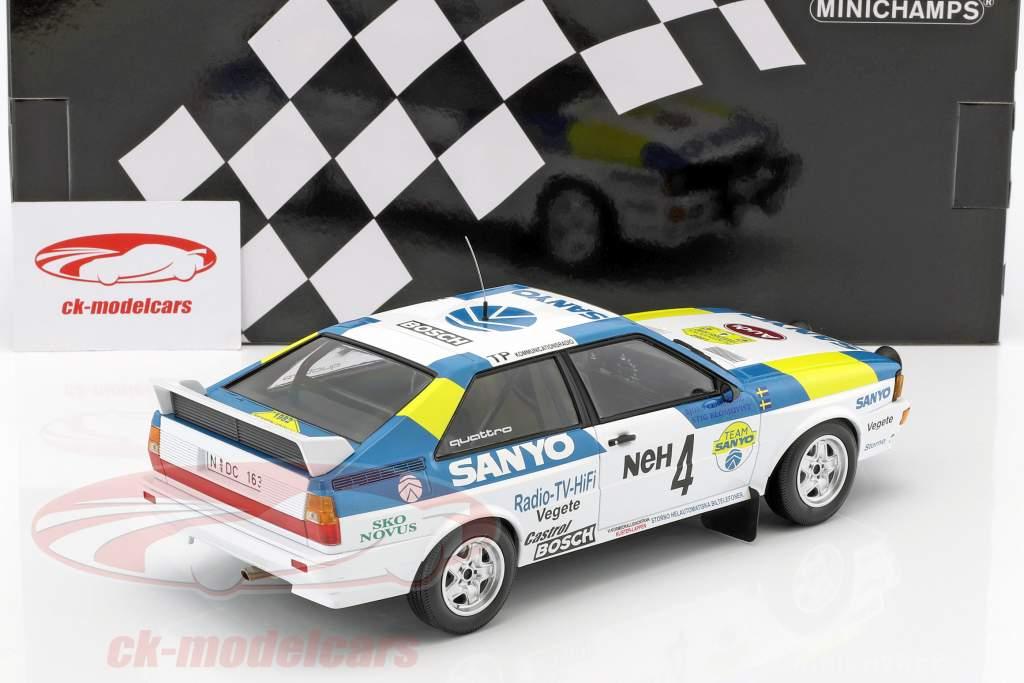Audi Quattro #4 vencedor International Swedish Rallye 1982 Blomqvist, Cederberg 1:18 Minichamps