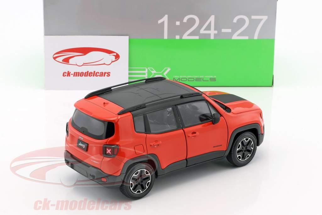 Jeep Renegade Trailhawk Opførselsår 2016 appelsin / sort 1:24 Welly