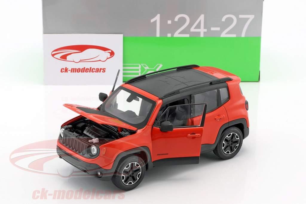 Jeep Renegade Trailhawk year 2016 orange / black 1:24 Welly