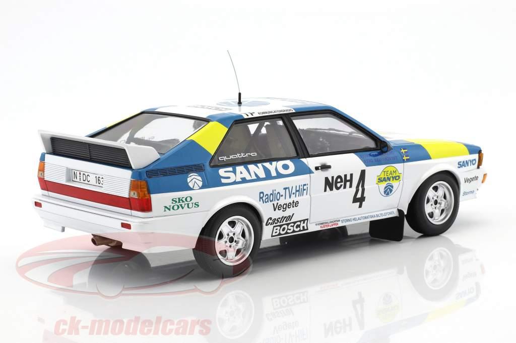 Audi Quattro #4 vincitore International Swedish Rallye 1982 Blomqvist, Cederberg 1:18 Minichamps