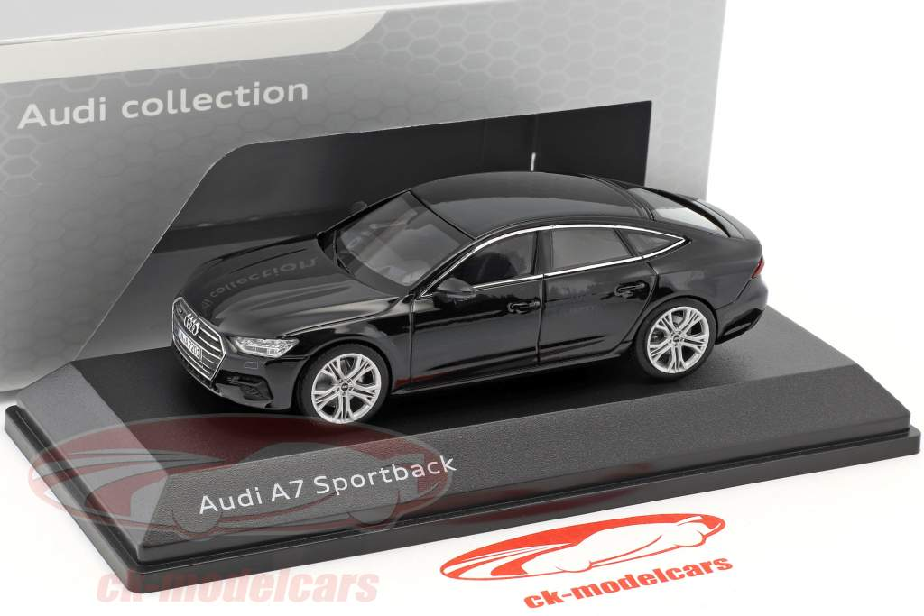 Audi A7 Sportback mythe noir 1:43 iScale