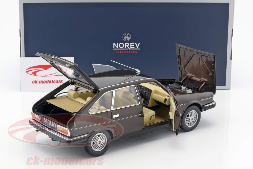 Renault 30 TX anno di costruzione 1981 marrone metallico 1:18 Norev