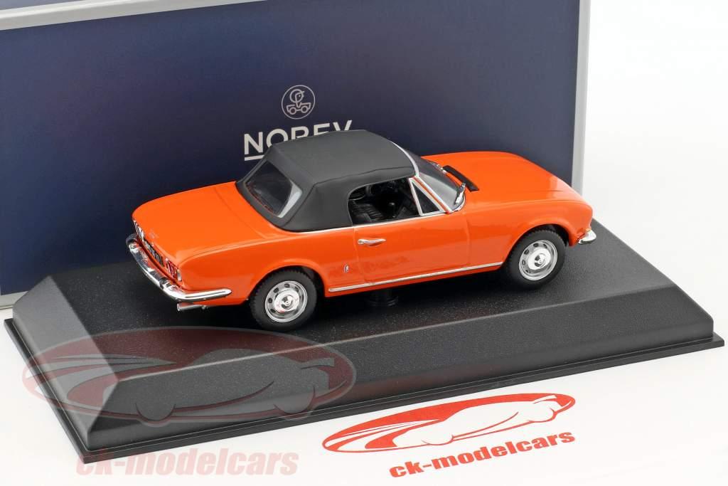 Peugeot 504 Cabriolet Construction year 1970 orange 1:43 Norev