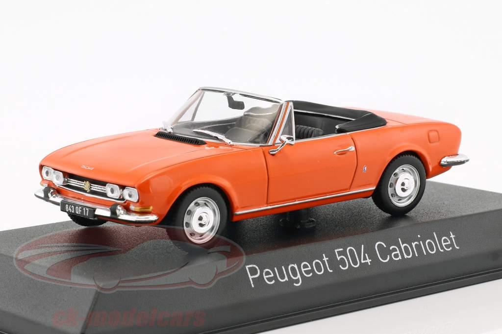 Peugeot 504 cabriolet anno di costruzione 1970 arancione 1:43 Norev