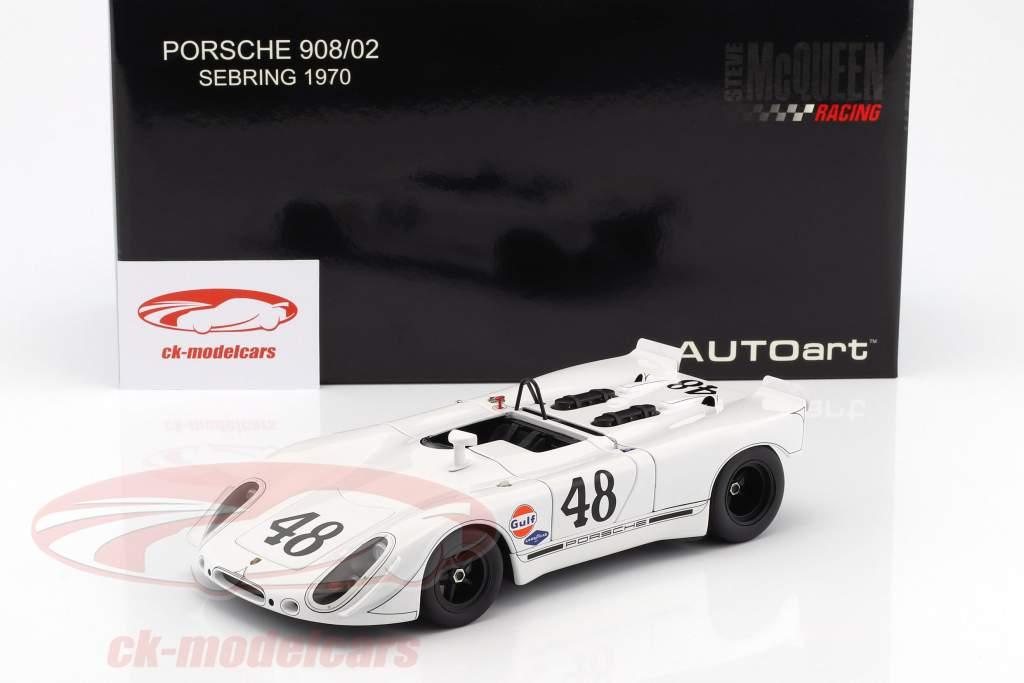 Porsche 908/02 Green Park Sebring #48 S. McQueen / P. Revson 1:18 AUTOart