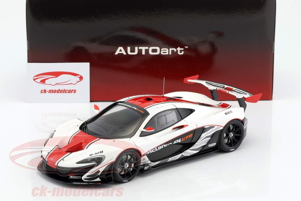 McLaren P1 GTR year 2015 white / red / black 1:18 AUTOart