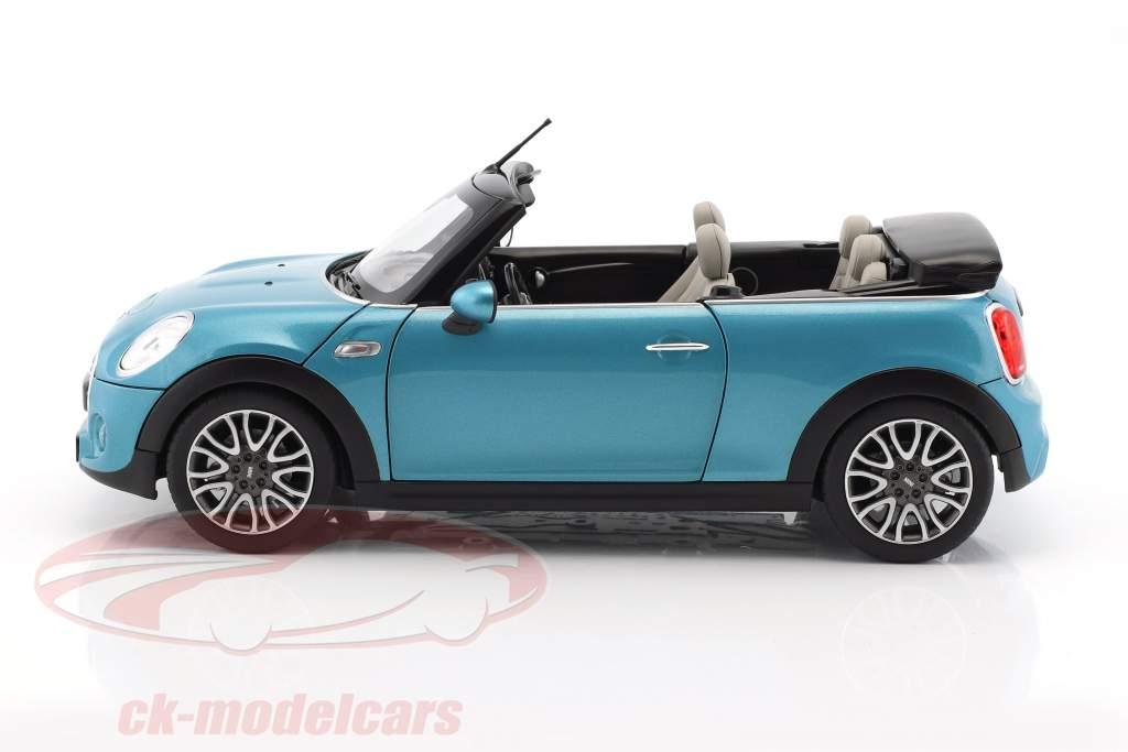 Mini Cooper S Cabriolet (F57) Baujahr 2016 blau metallic 1:18 Norev
