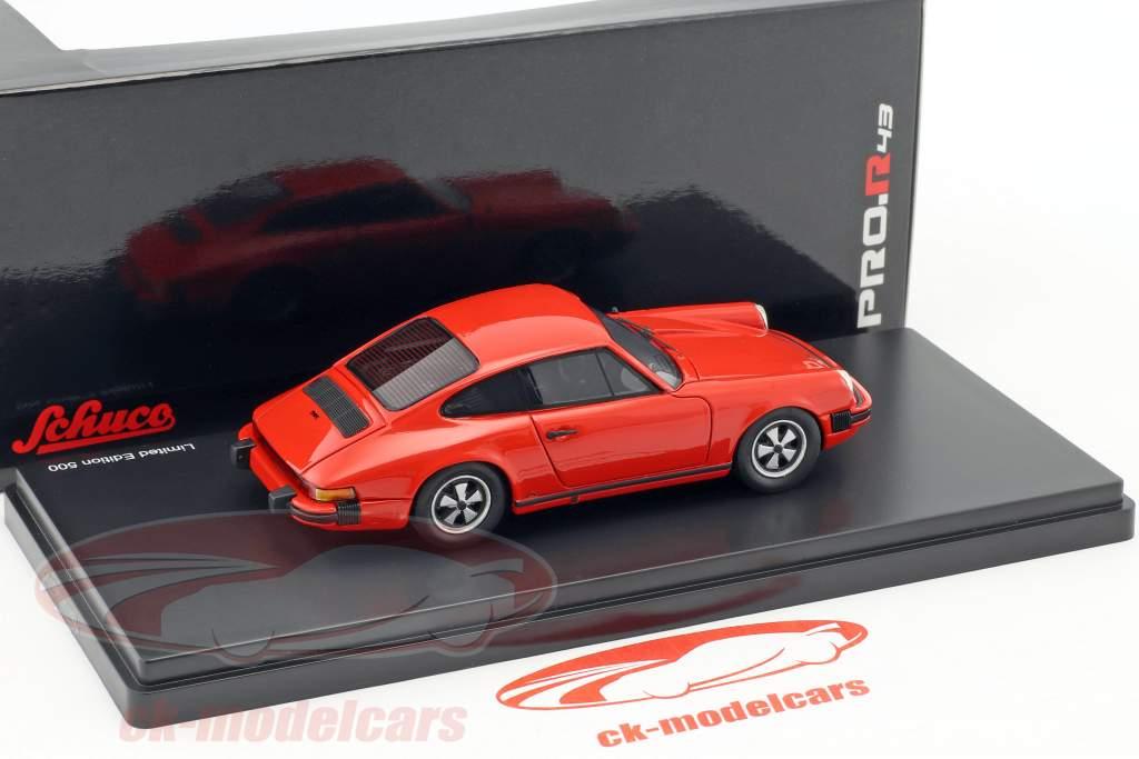 Porsche 911 coupé année de construction 1975 Indien rouge 1:43 Schuco