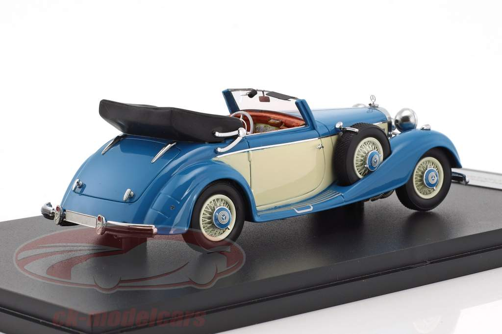 Mercedes-Benz 540K Typ A cabriolet anno di costruzione 1936 blu / beige 1:43 Neo