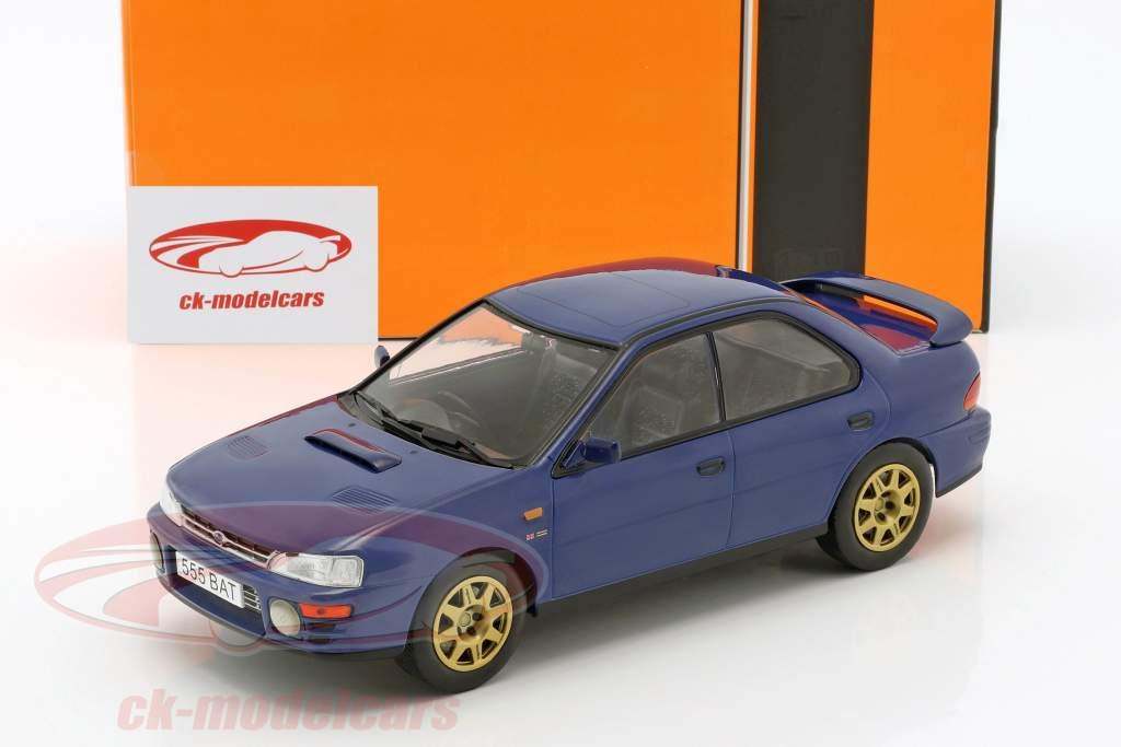 Subaru Impreza WRX RHD Baujahr 1995 blau 1:18 Ixo