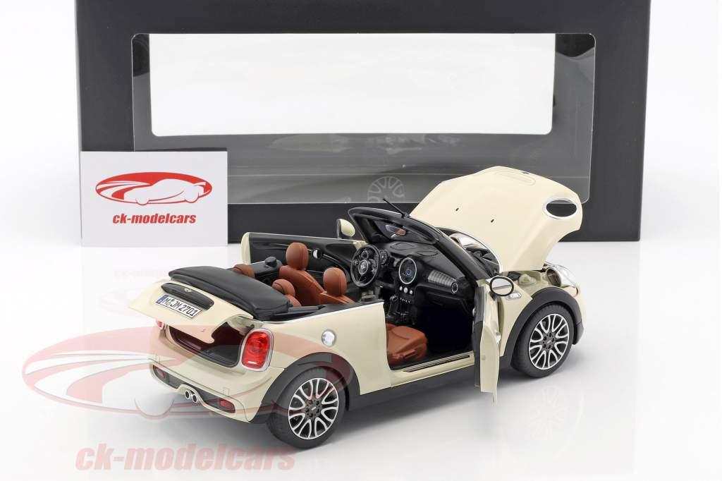 Mini Cooper S Cabriolet (F57) year 2016 pepper white 1:18 Norev