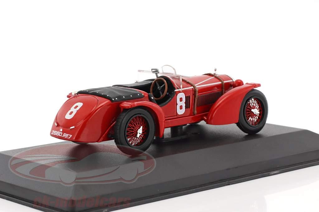 Alfa Romeo 8C #8 gagnant 24h LeMans 1932 Sommer, Chinetti 1:43 Ixo
