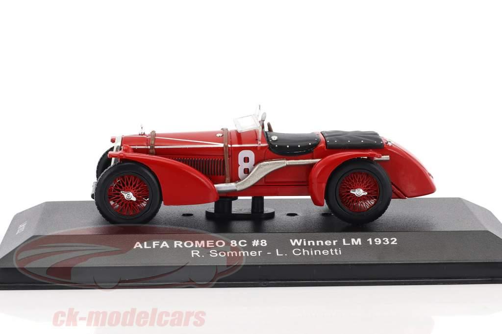 Alfa Romeo 8C #8 Winner 24h LeMans 1932 Sommer, Chinetti 1:43 Ixo