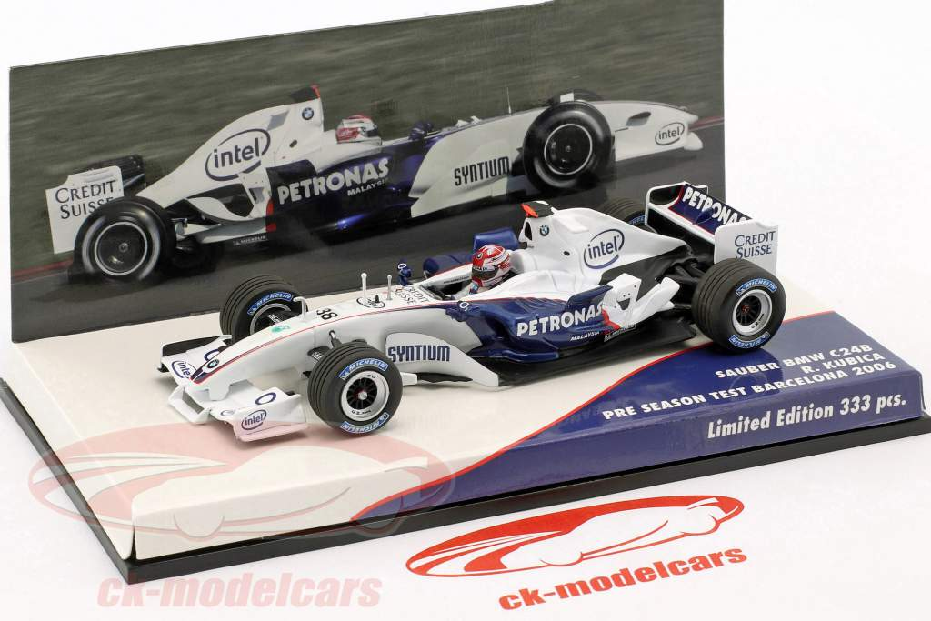R. Kubica BMW Sauber C24B #38 formule 1 Test Barcelona 2006 1:43 Minichamps