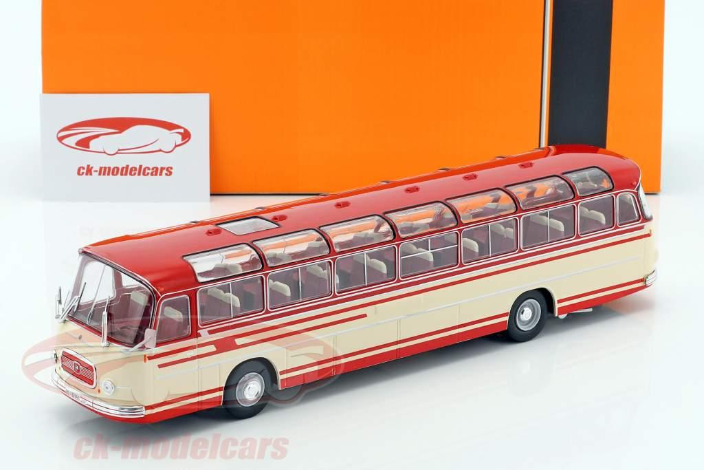 Setra S14 bus année de construction 1966 beige / rouge 1:43 Ixo