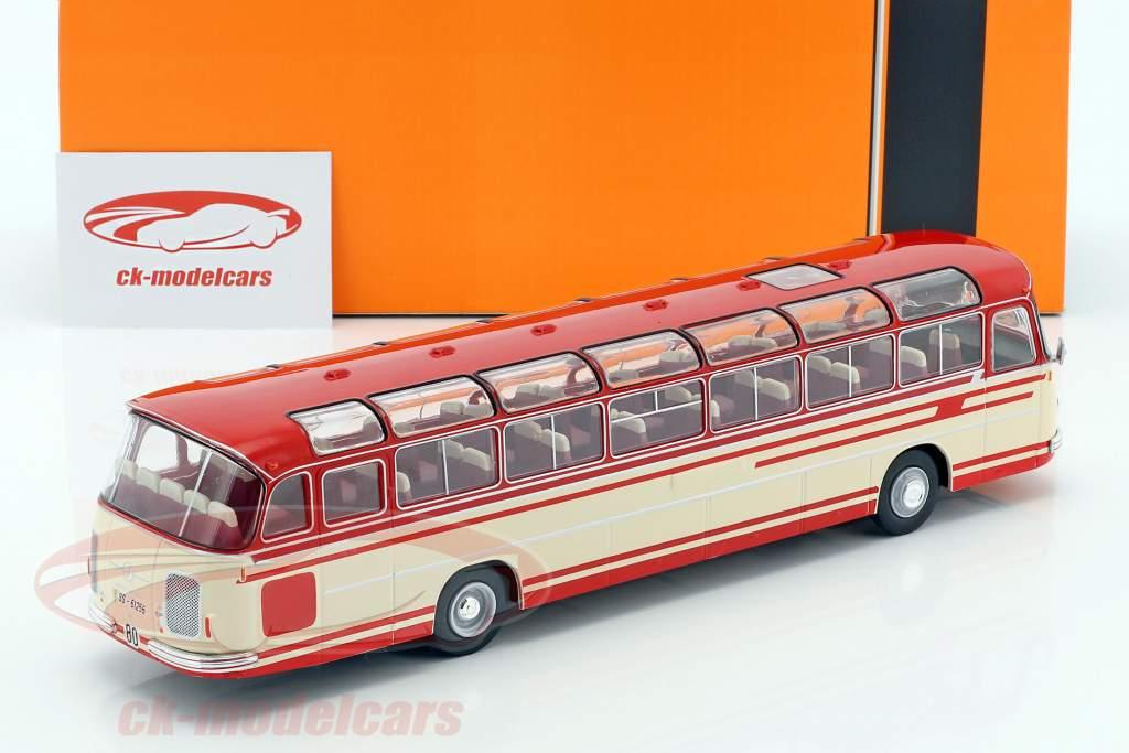 Setra S14 Bus Baujahr 1966 beige / rot 1:43 Ixo