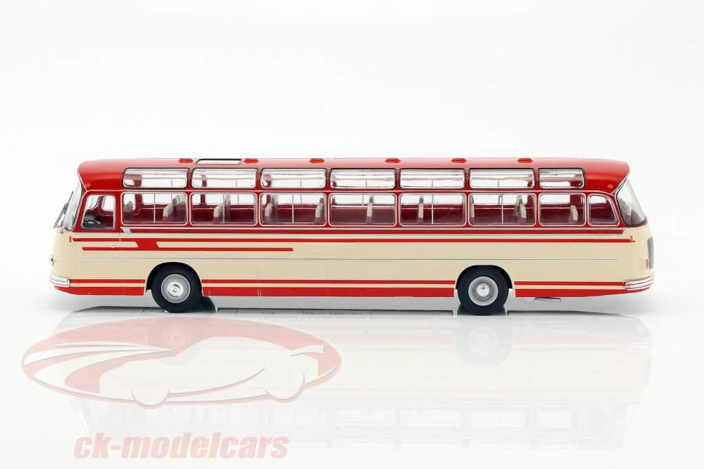 Setra S14 autobus anno di costruzione 1966 beige / rosso 1:43 Ixo