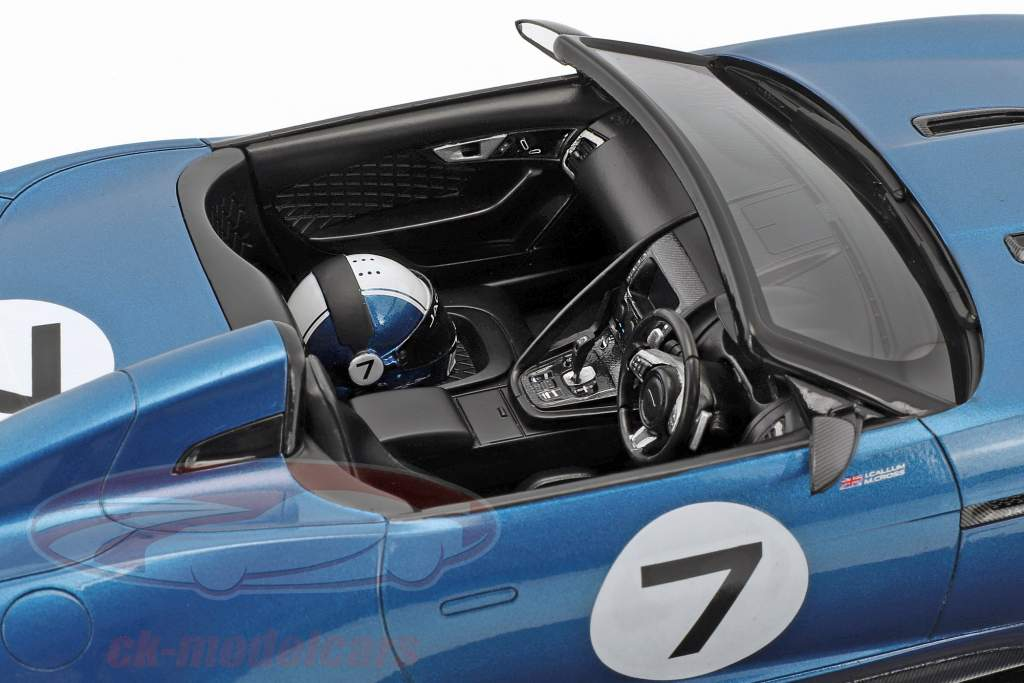 Jaguar F-Type projet 7 concept ecurie bleu 1:18 True Scale