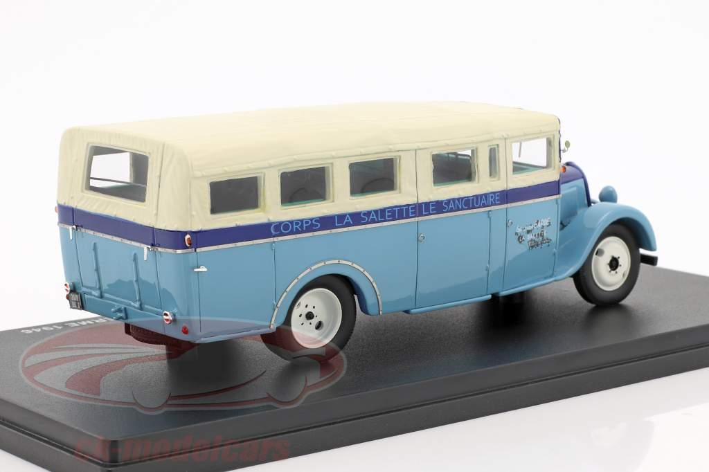 Citroen U23 Chaboud Torpedo bus year 1946 blue / beige 1:43 Momaco