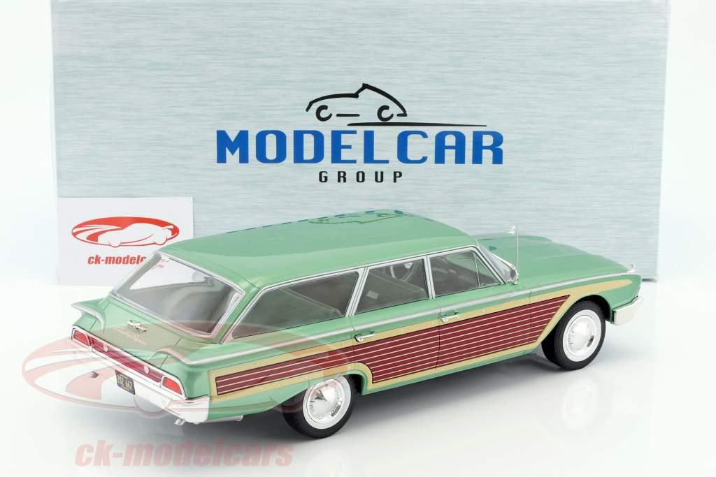 Ford Country Squire avec aspect bois vert métallique 1:18 Model Car Group