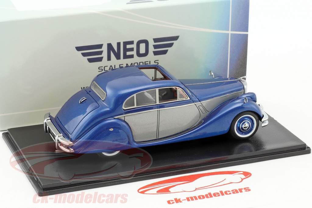 Jaguar MK V Baujahr 1950 blau metallic / silber 1:43 Neo