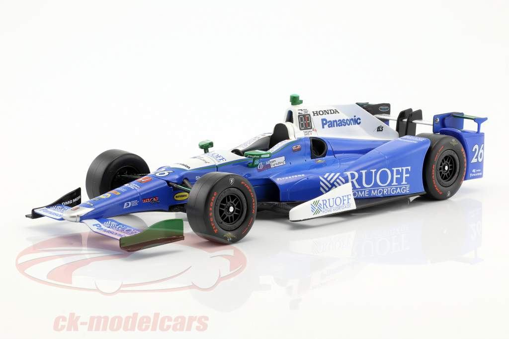 Takuma Sato Indycar Honda #26 vincitore Indy 500 2017 Andretti Autosport 1:18 Greenlight