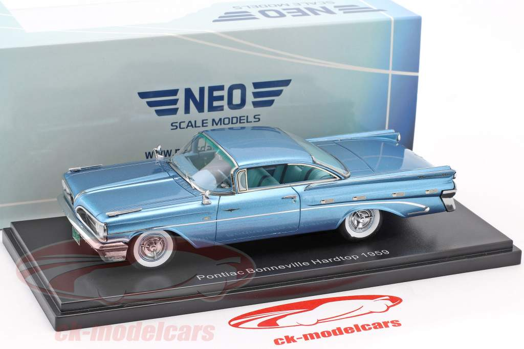 Pontiac Bonneville Hardtop année de construction 1959 bleu clair métallique 1:43 Neo