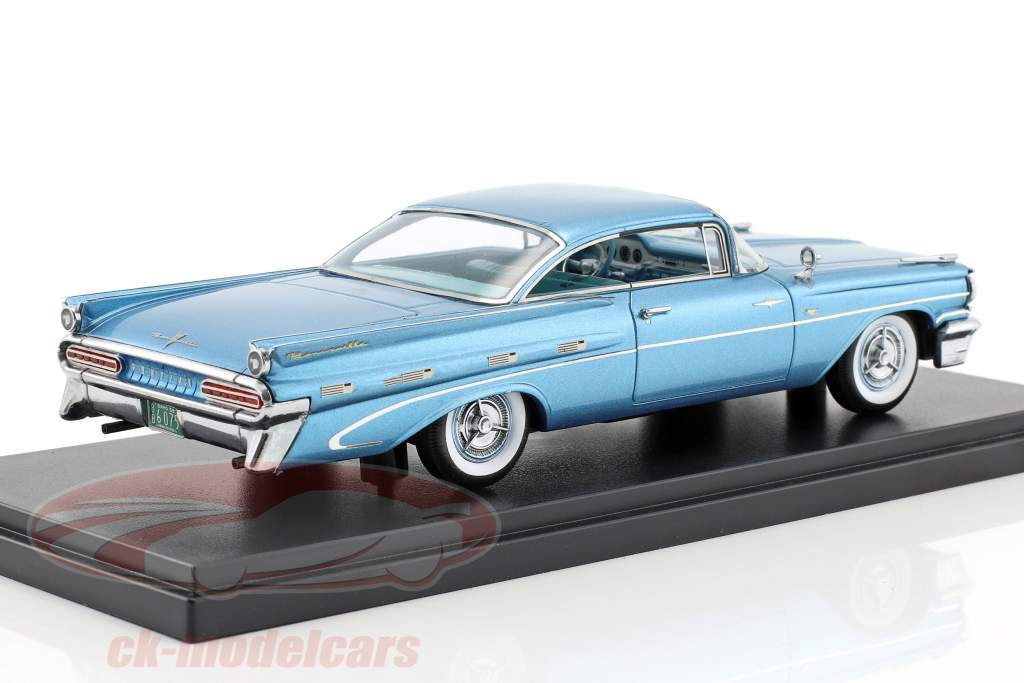Pontiac Bonneville Hardtop year 1959 light blue metallic 1:43 Neo