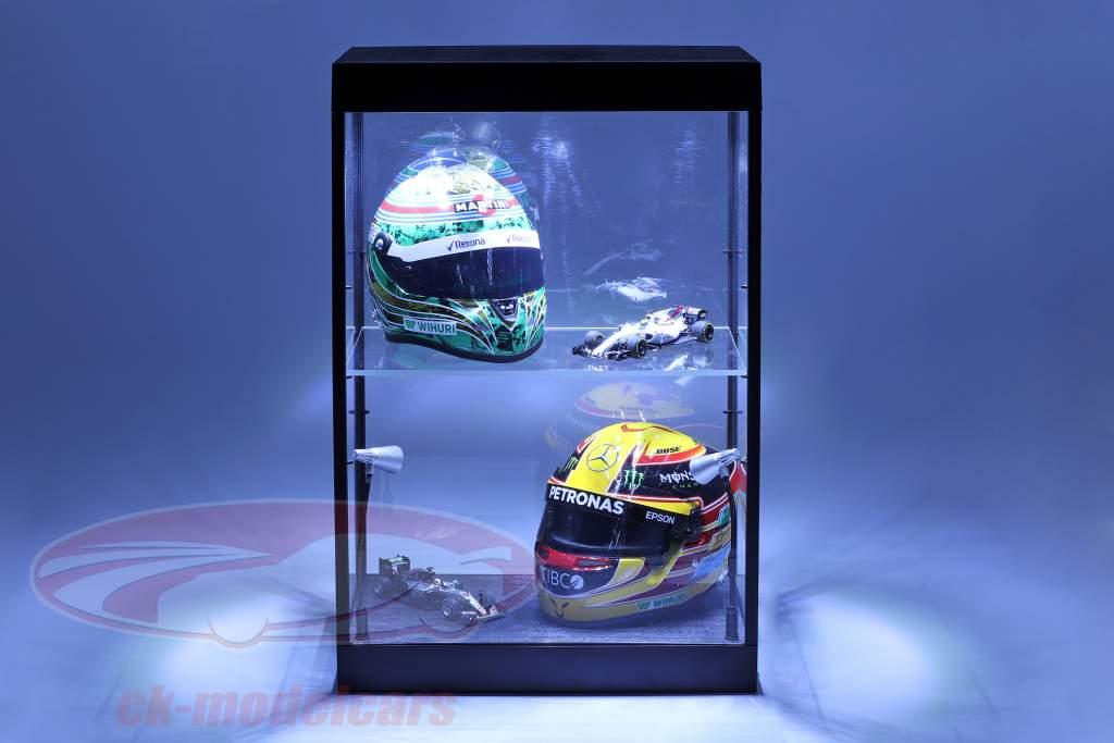 armoire simple avec 2 mobile lampes LED pour voitures de modèle dans le échelle 1:18,1:24,1:43 Triple9