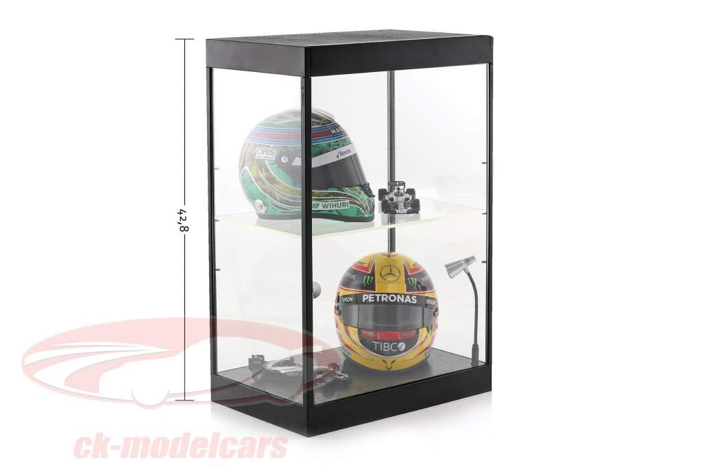 Single kabinet met 2 mobiel LED-lampen voor modelauto's in de schaal 1:18,1:24,1:43 Triple9