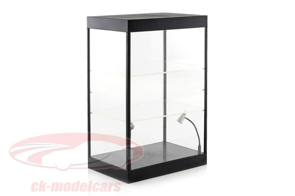 cabinet singolo con 2 mobile lampade a LED per modellini di automobili nella scala 1:18,1:24,1:43 Triple9