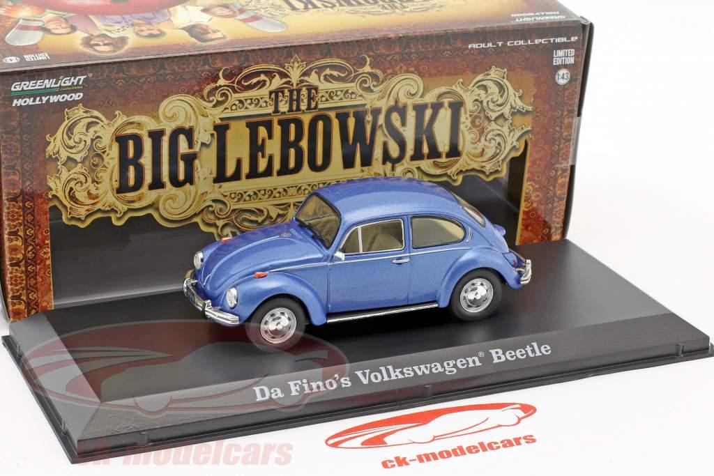 Da Fino's Volkswagen VW Beetle film The Big Lebowski 1998 bleu métallique 1:43 Greenlight