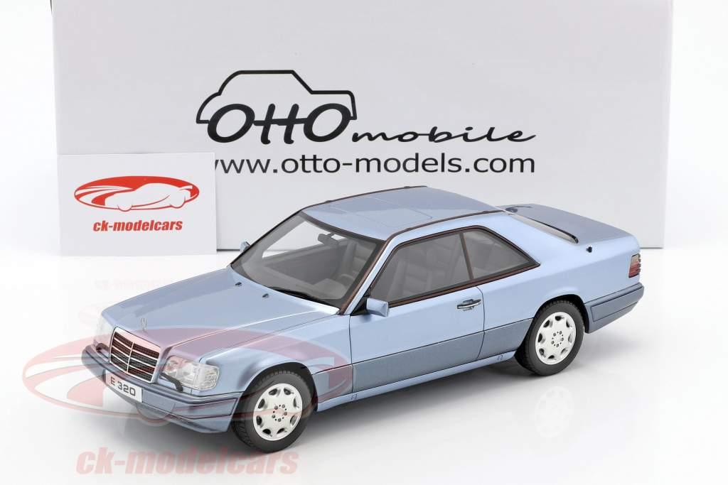 Mercedes-Benz E320 (C124) Coupe année de construction 1986 bleu 1:18 OttOmobile
