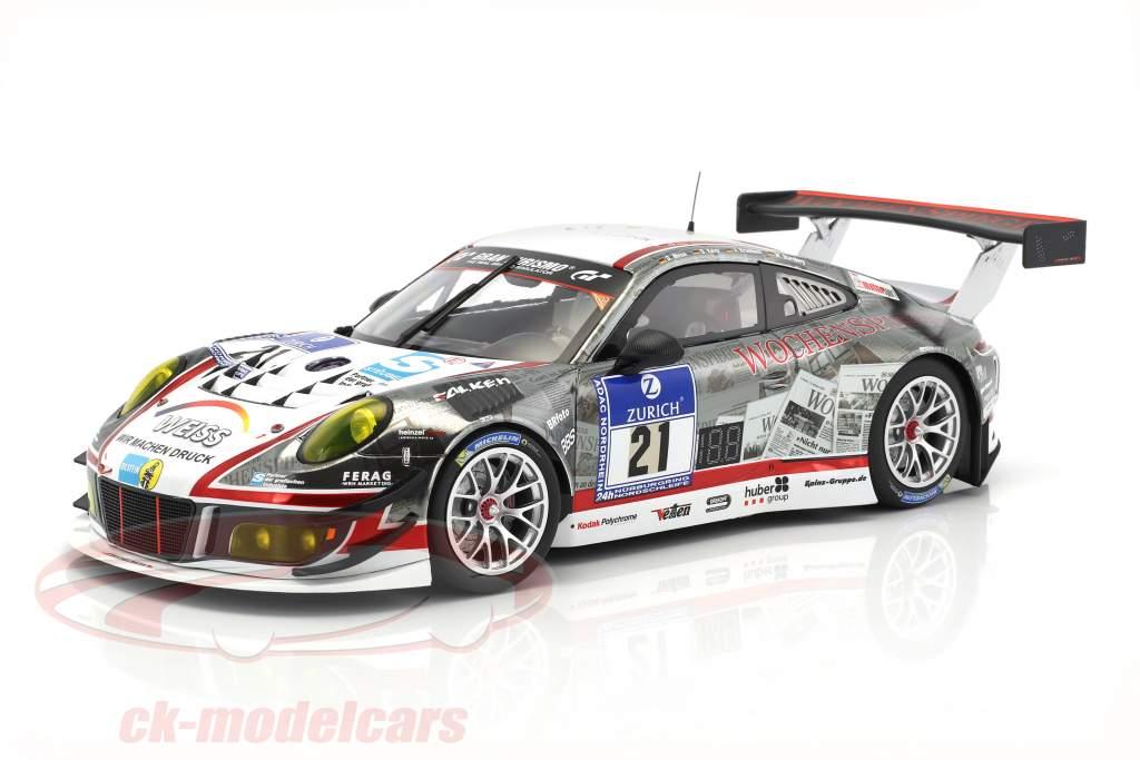 Porsche 911 GT3 R #21 24h Nürburgring 2016 Stursberg, Krumbach, Kainz, Weiss 1:18 Minichamps