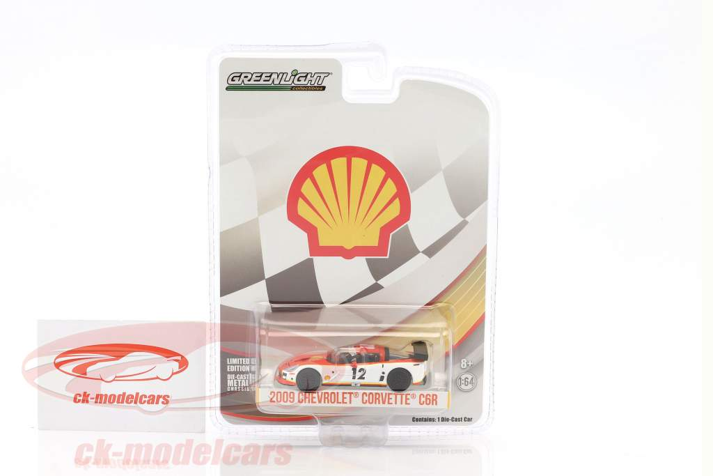 Chevrolet Corvette C6R #12 Shell Oil year 2009 white / orange 1:64 Greenlight