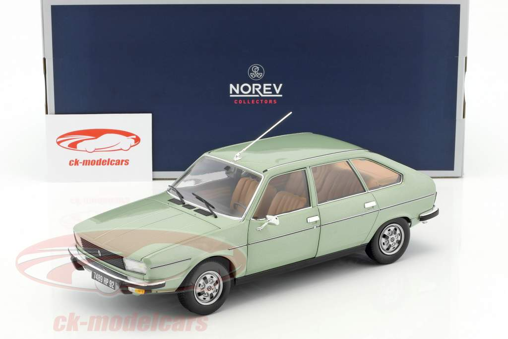 Renault 20 TS Construction year 1978 algues green metallic 1:18 Norev