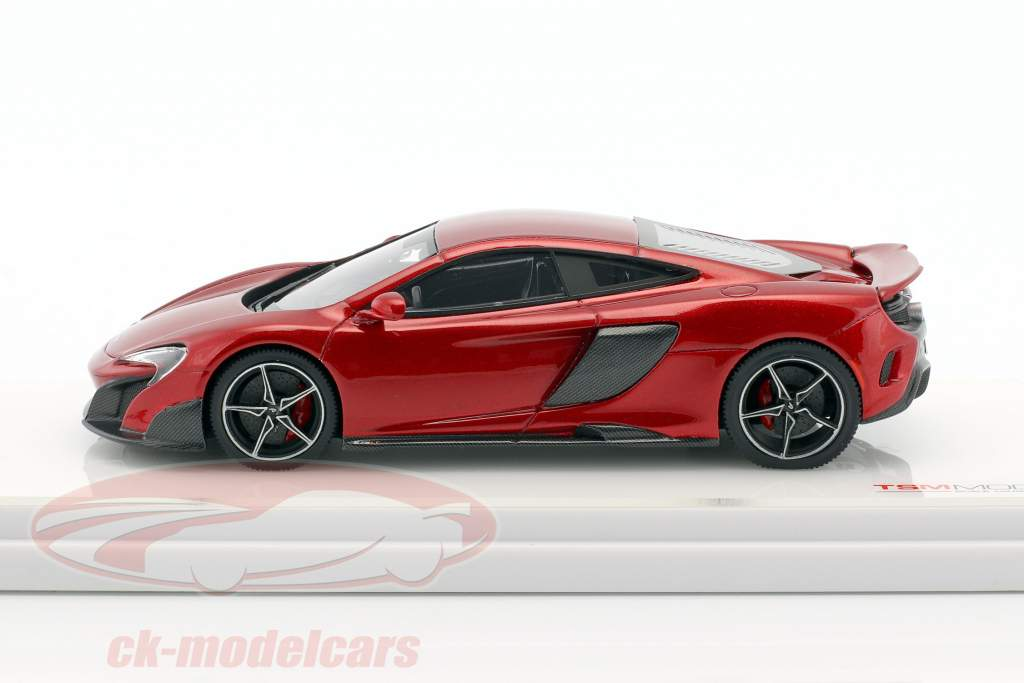 McLaren 675LT year 2015 volcano red 1:43 TrueScale