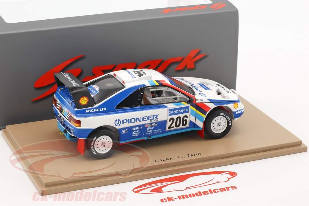 Peugeot 405 T16 Grand Raid #206 segundo Rallye Dakar 1989 Ickx, Tarin 1:43 Spark